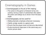 cinematography in games