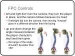 fpc controls