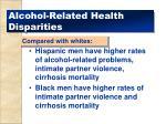 alcohol related health disparities