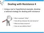 dealing with resistance 4