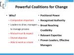 powerful coalitions for change