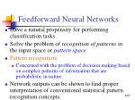 feedforward neural networks