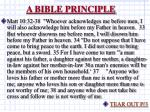 a bible principle