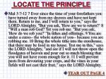 locate the principle