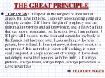the great principle