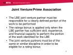 joint venture prime association
