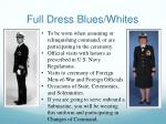 full dress blues whites