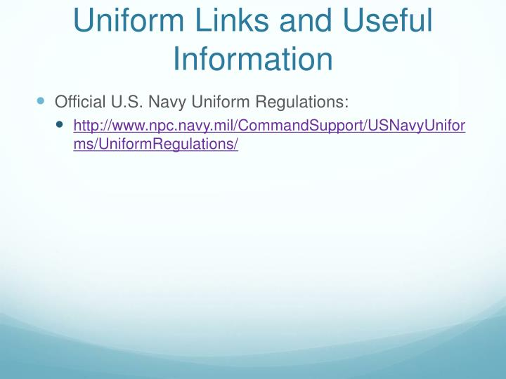 Uniform Links and Useful Information