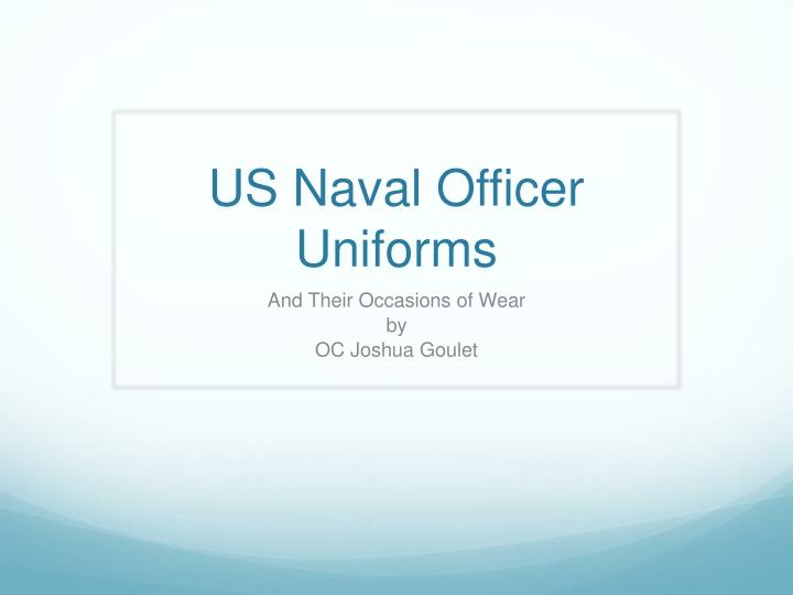 Us naval officer uniforms