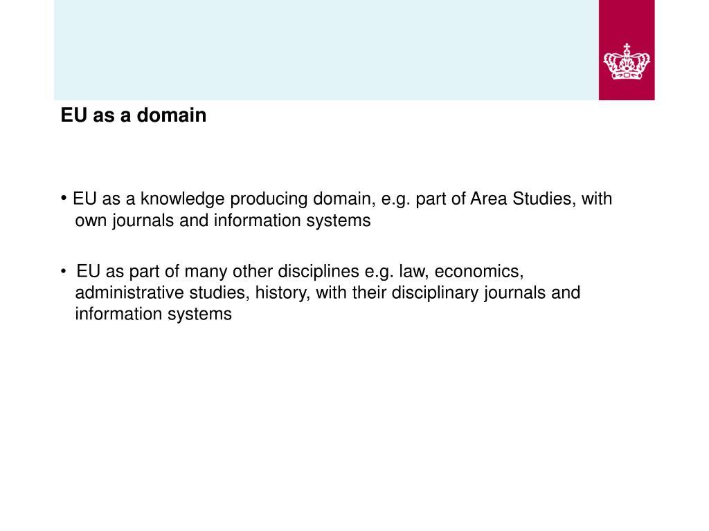 EU as a domain