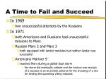 a time to fail and succeed