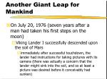 another giant leap for mankind