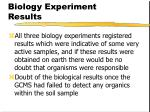 biology experiment results