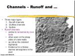 channels runoff and