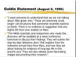 goldin statement august 6 1996
