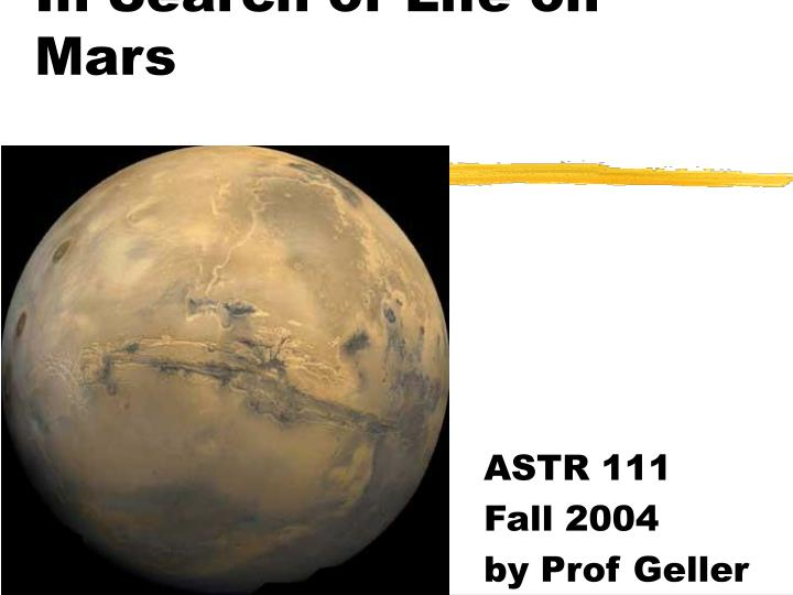 in search of life on mars n.