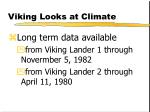 viking looks at climate