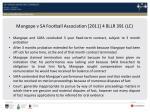 mangope v sa football association 2011 4 bllr 391 lc