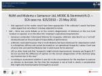 num and maloma v samancor ltd meibc stemmett n o sca case no 625 2010 25 may 20112