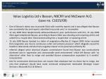 value logistics ltd v basson nbcrfi and mcewann n o case no c1025 09