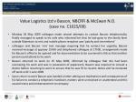 value logistics ltd v basson nbcrfi mcewan n o case no c1025 09