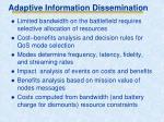 adaptive information dissemination1