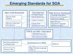 emerging standards for soa1