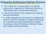 enterprise architecture delivery process