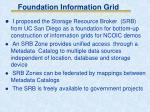 foundation information grid