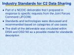 industry standards for c2 data sharing