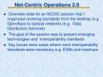net centric operations 2 0