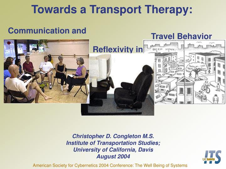 towards a transport therapy n.