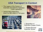 usa transport in context