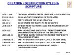 creation destruction cyles in scripture
