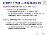 eternity past 4000 years bc1