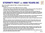 eternity past 4000 years bc4