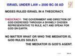 israel under law 2000 bc 30 ad1