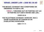 israel under law 2000 bc 30 ad2