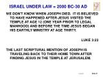 israel under law 2000 bc 30 ad20
