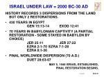 israel under law 2000 bc 30 ad4