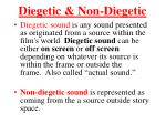 diegetic non diegetic