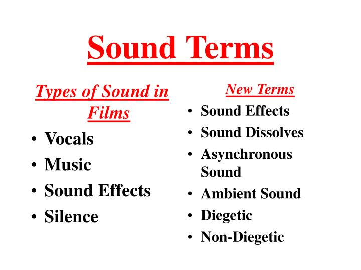 sound terms n.