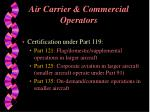 air carrier commercial operators