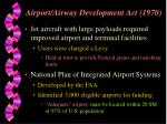 airport airway development act 1970