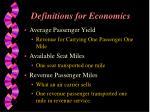 definitions for economics