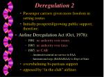 deregulation 2