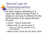 second law of thermodynamics1