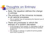 thoughts on entropy
