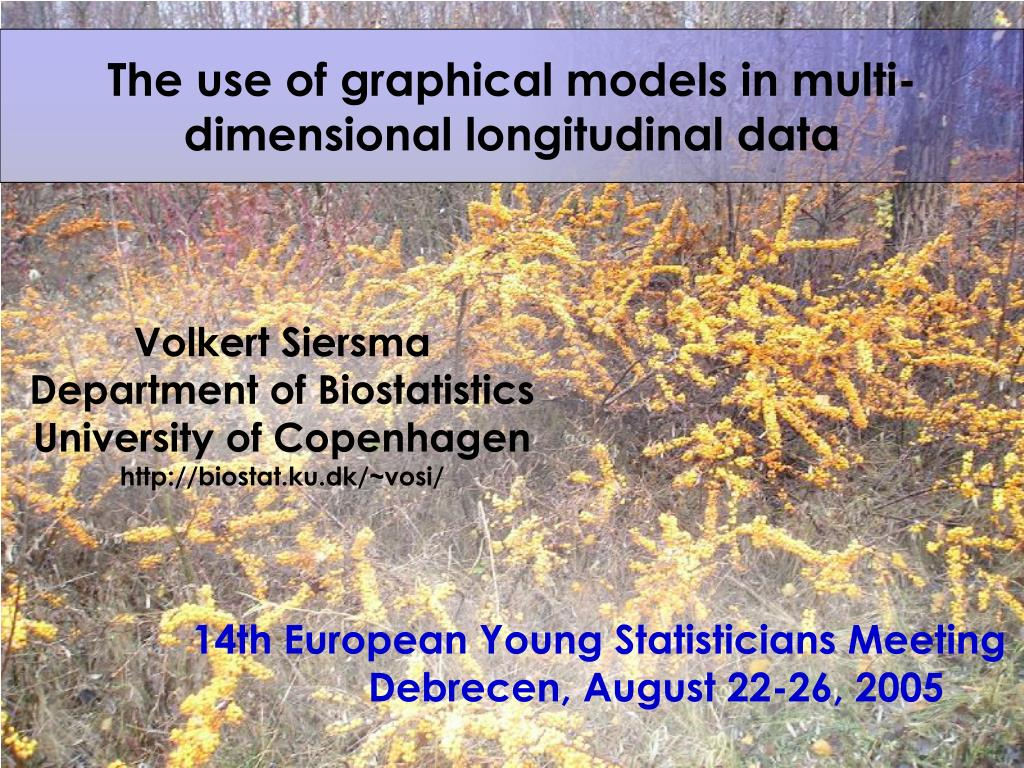The use of graphical models in multi-dimensional longitudinal data