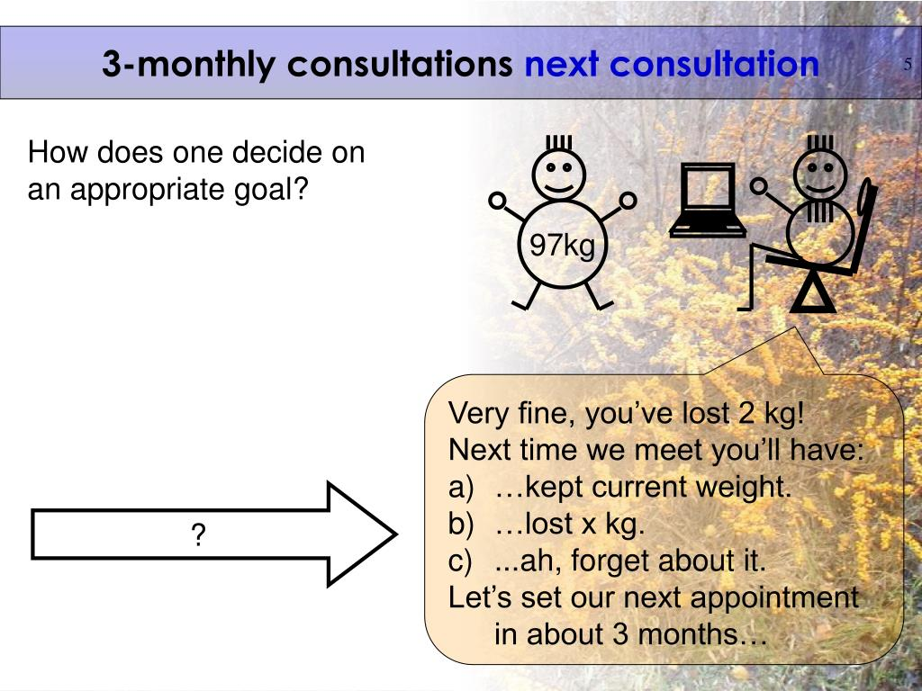 3-monthly consultations